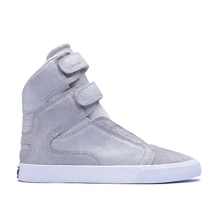 Womens Shoes Supra Society II Silver/White