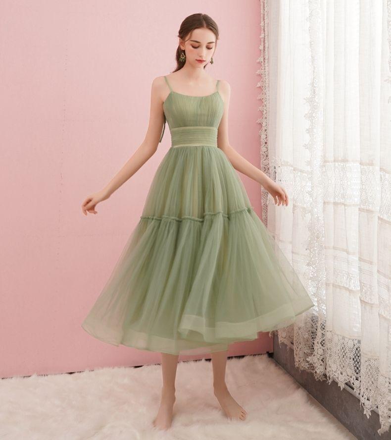 320 Best Evening Dress Cute green tulle short prom dress, green evening dress – evening dress