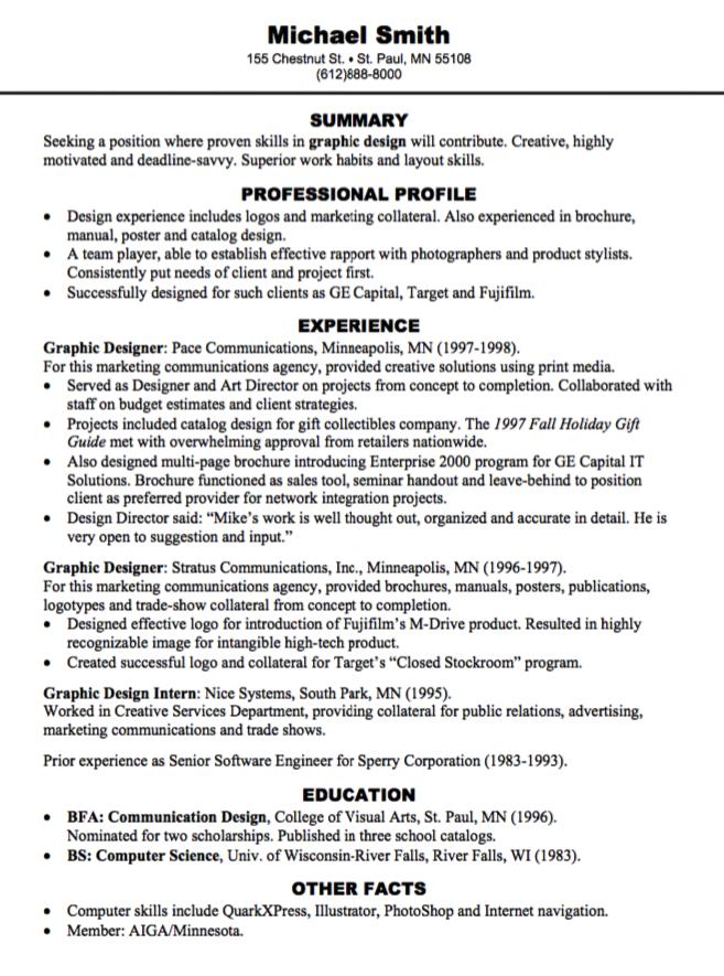 Pin by latifah on Example Resume CV | Pinterest | Graphic design resume