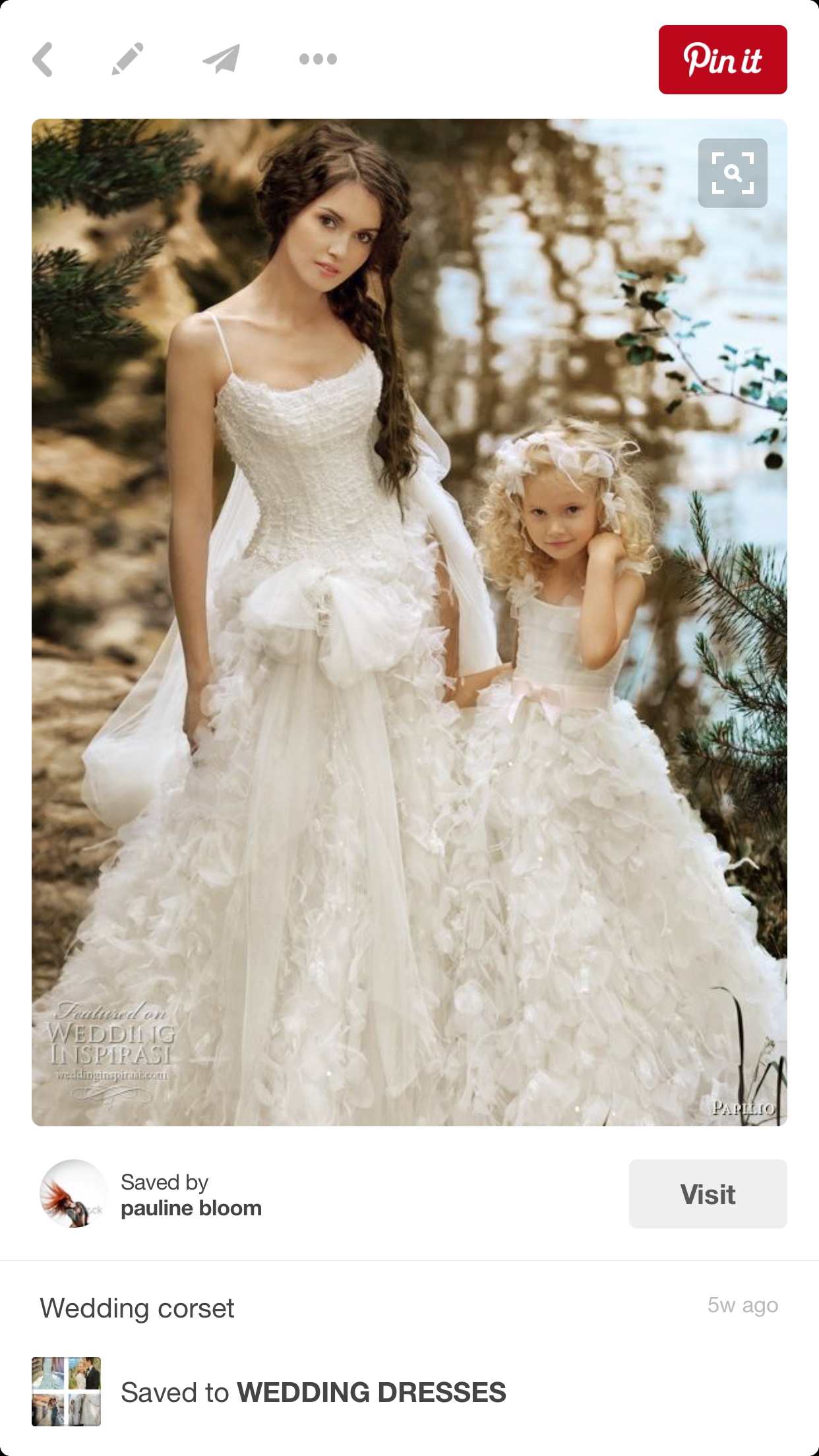 Girls wedding dress  Pin by pauline bloom on WEDDING DRESSES  Pinterest  Wedding dress