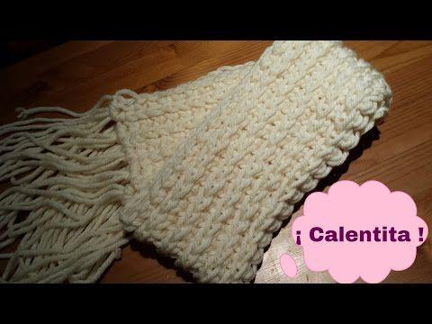 chalina o bufanda tejido a crochet para niña paso a paso en punto ...