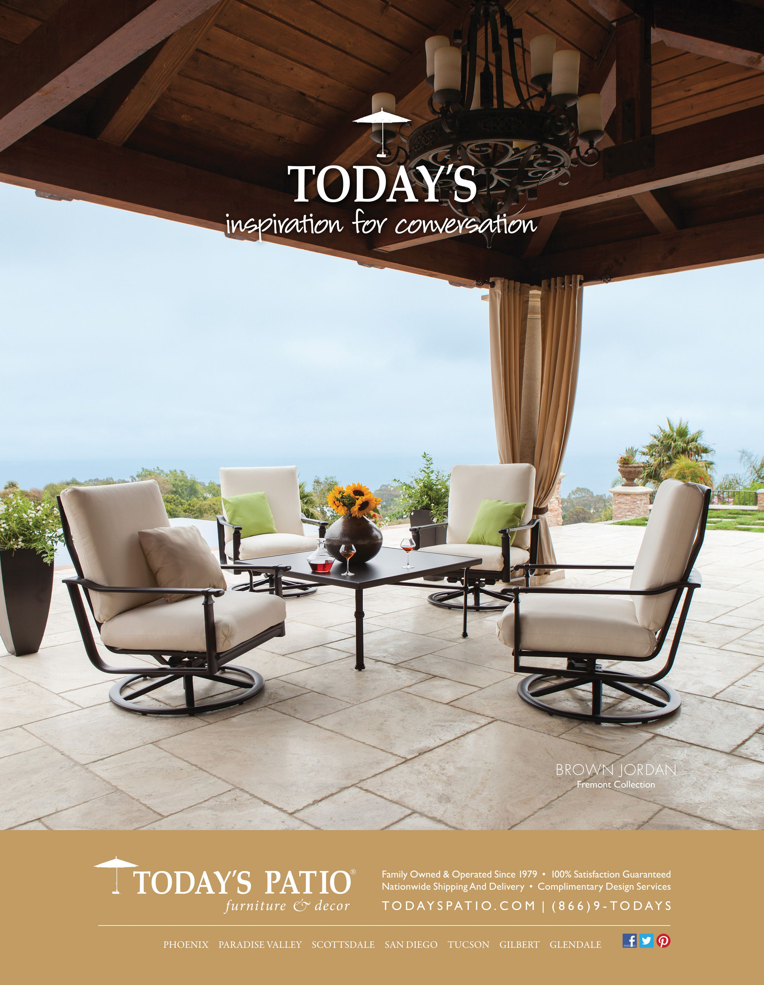 Brown Jordan Fremont Collection Today S Patio Magazine Ad