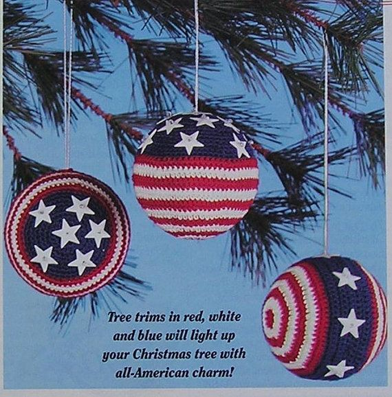 Easy Crochet Pattern Patriotic USA Tree by NanasVintagePatterns ...