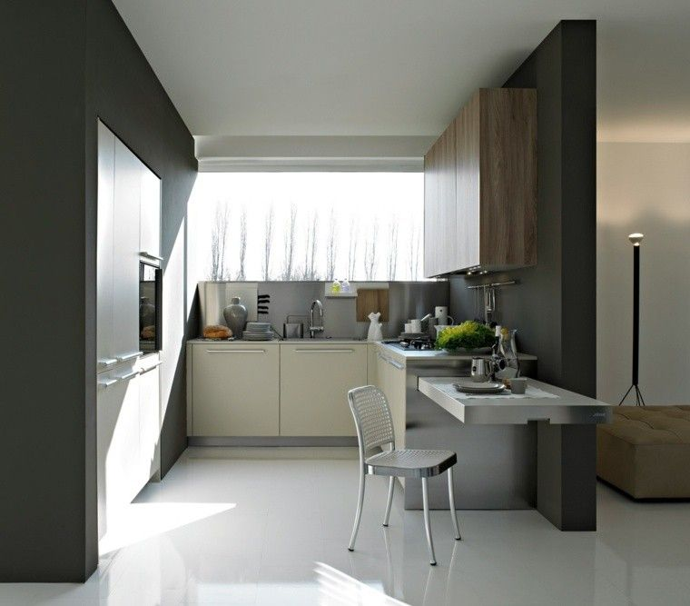 Decoraci N Interiores Cocinas Pequenas Silla Metal Ideas