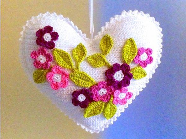 Blumen Herz Häkeln Tür Deko Oder Geschenk Za Male I Odrasle