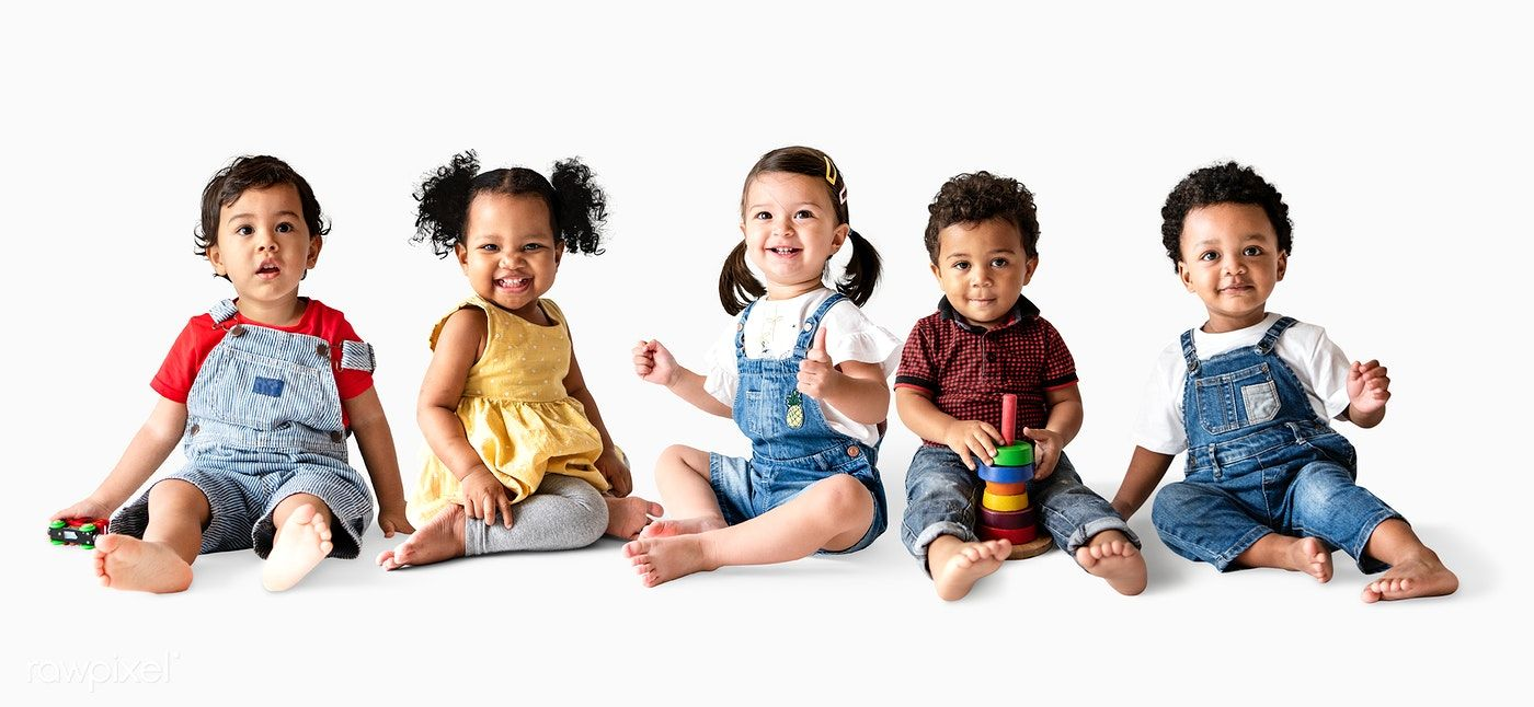 Download Premium Psd Of Cute Diverse Toddlers Sitting Together On The Baby Portraits Toddler Toddler Dance