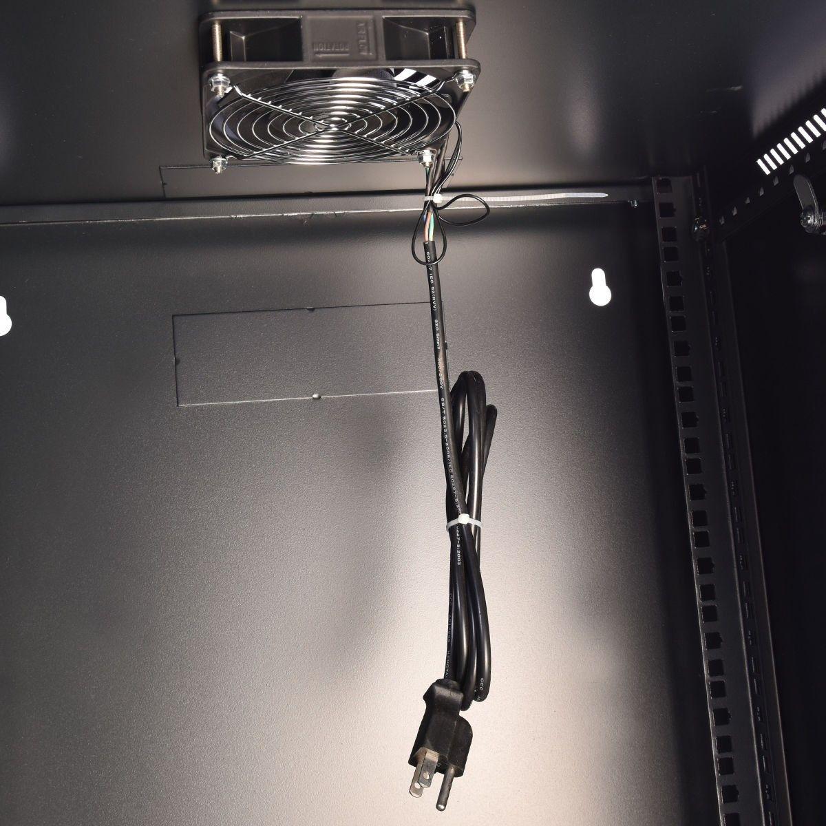 15u Wall Mount Network Server Data Cabinet Enclosure Rack Glass Door Lock W Fan Wall Mount Wall Panel Siding