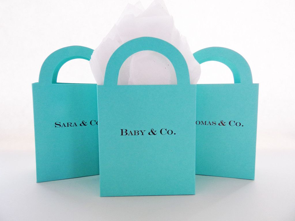 e94f02c4b77 Personalized Candy Buffet/ Shopping Bag Favor Boxes | Tiffany & Co ...