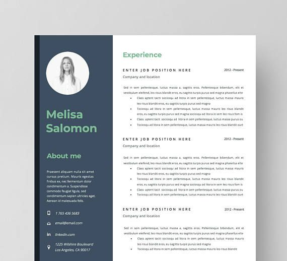 Creative Resume Template In Microsoft Word Instant Download Cv With