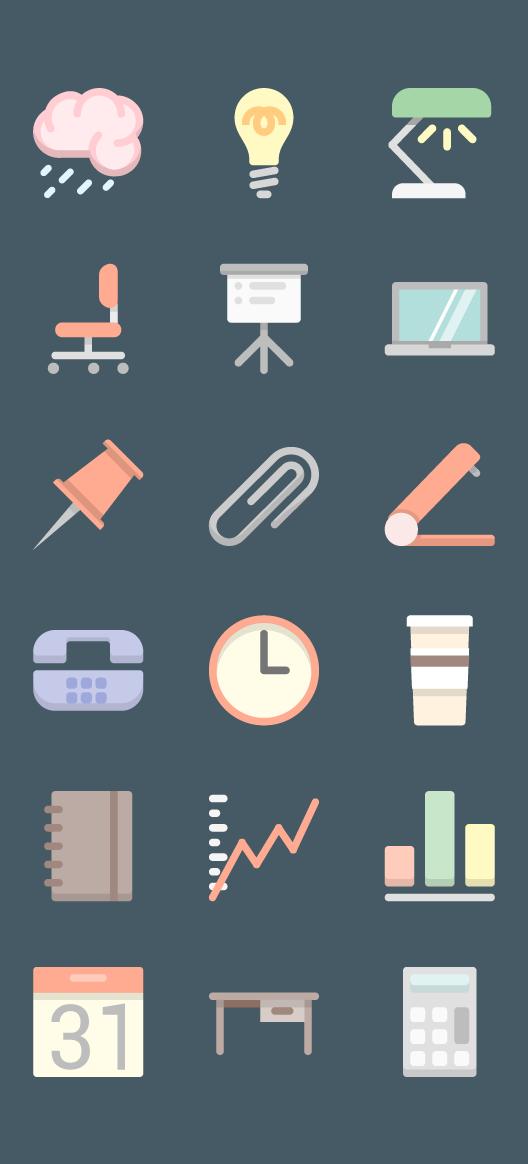 오피스 아이콘 18개 .AI  ICON Design source  Pinterest  앱 디자인 ...