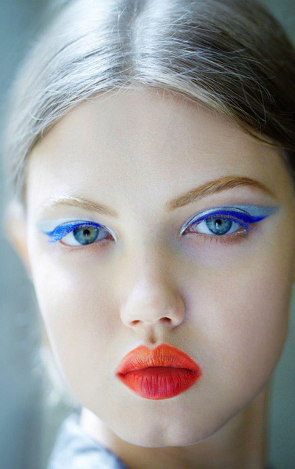 Lindsey Wixen Colour Makeup Blue Makeup Runway Makeup