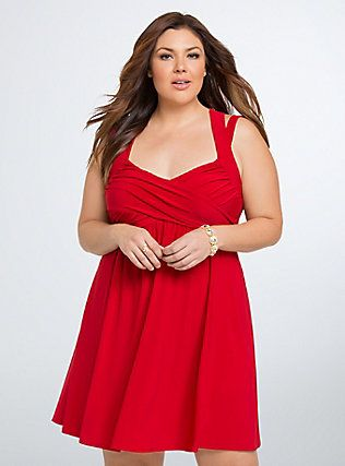 Crisscross Babydoll Dress Torrid Womens Plus Size Clothing