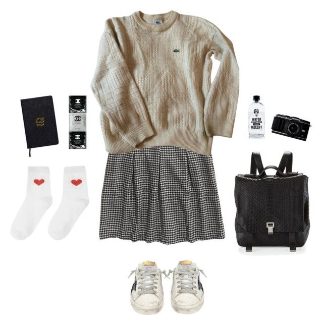 """""""Everybody got their demons"""" by stienvd ❤ liked on Polyvore featuring Madewell, Lacoste, Proenza Schouler, Golden Goose, Aquaovo and Nomadic"""