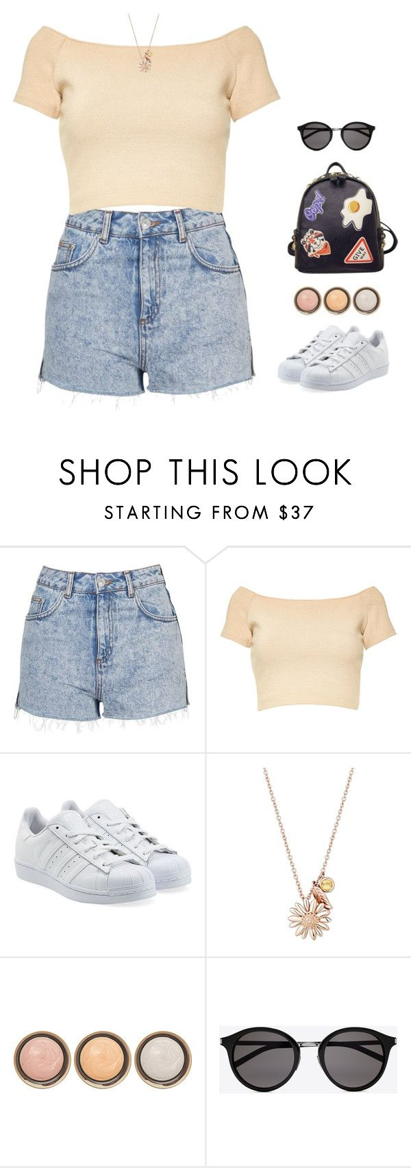 """I'm stuck with the heartache"" by intanology ❤ liked on Polyvore featuring Topshop, Alice + Olivia, adidas Originals, Daisy Jewellery, By Terry, Yves Saint Laurent and WithChic"