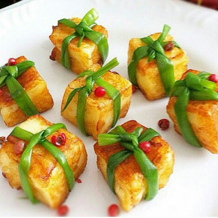 Cubos de queijo de coalho grelhado