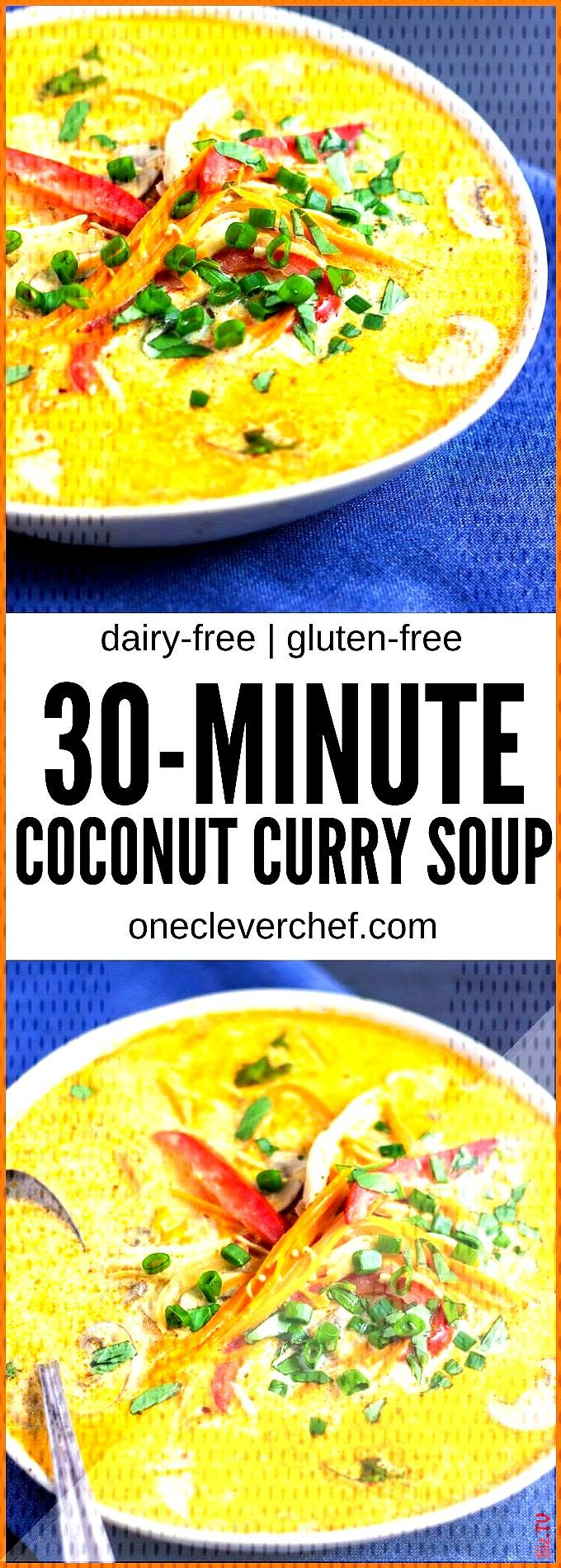 Coconut Curry Chicken Soup with Quinoa  One Clever Chef Coconut Curry Chicken Soup with Quinoa  One