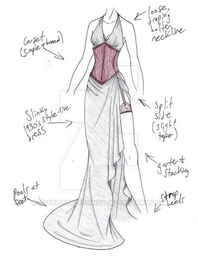 Pin by Zandisile on Fashion drawing | Dress sketches