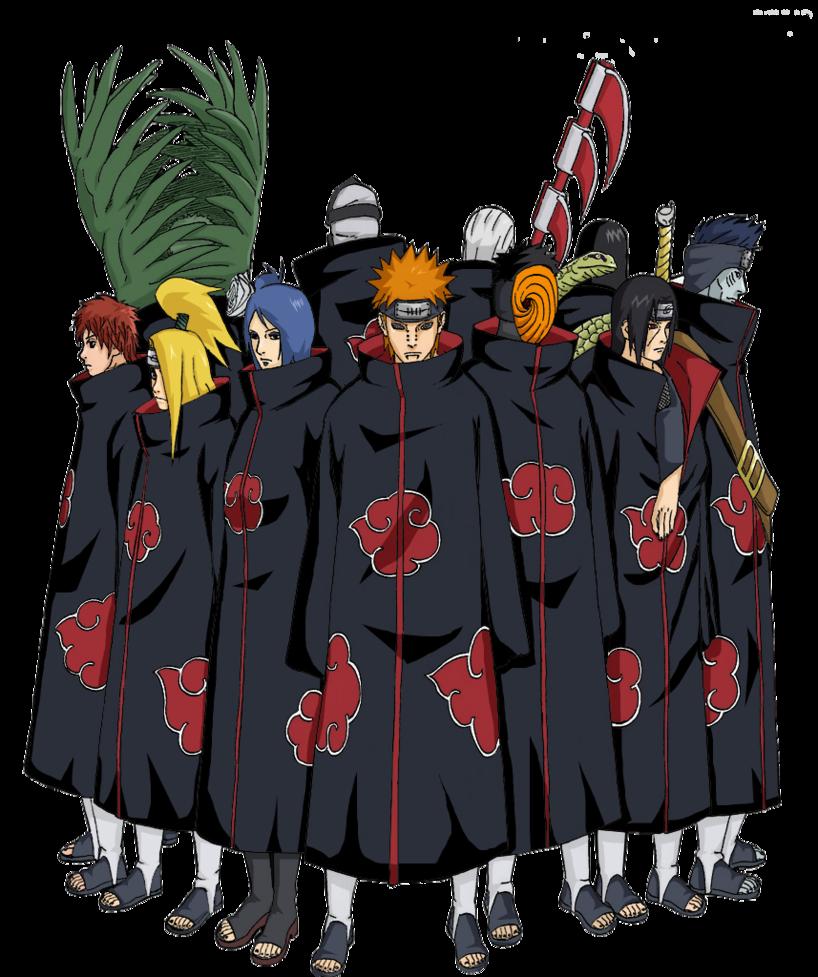 Akatsuki Png By Hidan Sama1408 2 On Deviantart Akatsuki Naruto Shippuden Sasuke Naruto