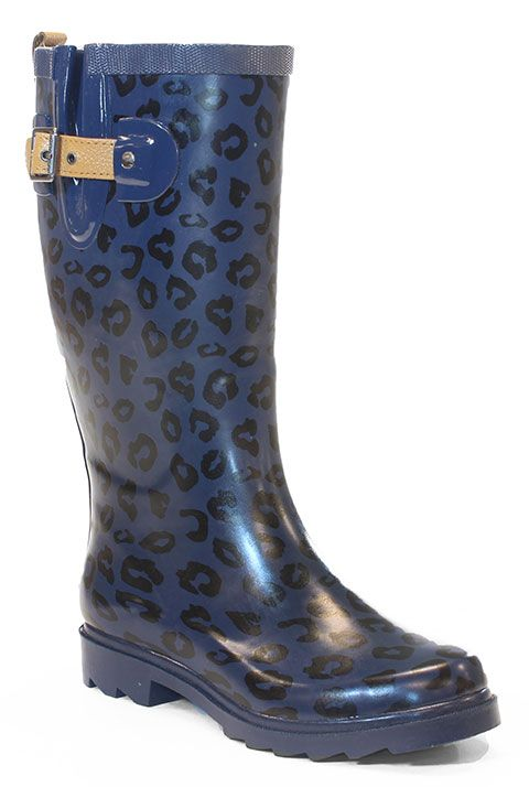 2cbdee24909c Chooka 'Top Solid Leopard' in Twilight Blue rain boot #chookaboots  #rainboots #leopardprint