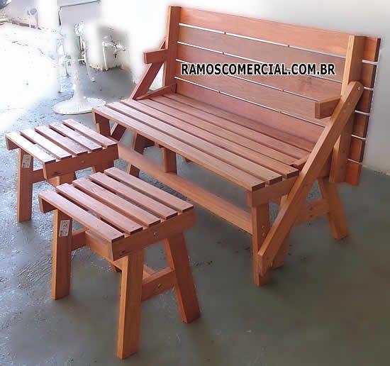 Banco Vira Mesa Ideias De Decoracao Cadeiras De Madeira Moveis