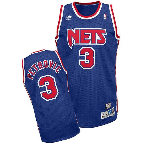 afbc10774738 ... new jersey nets throwback jersey Adidas New Jersey Nets Drazen Petrovic Soul  Swingman ...