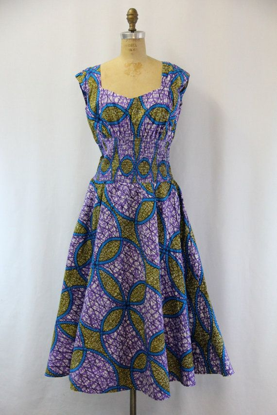 PLUS SIZE Vintage Batik Dress XXL | Plus Size Vintage Dresses ...
