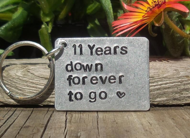 11 years down forever to go personalised 11th wedding