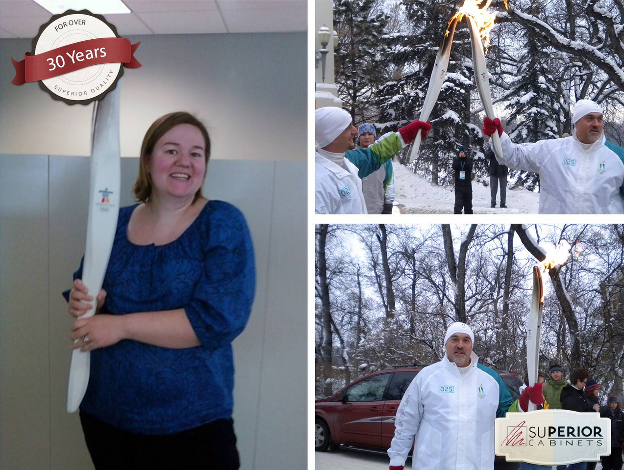 Here for #tbt #throwbackthursday we have our Credit Manager Connie's husband Wayne who proudly passed the Winter Olympic Vancouver torch in Regina at the legislative grounds. The torch also made an appearance at our Saskatoon showroom. #sochi2014