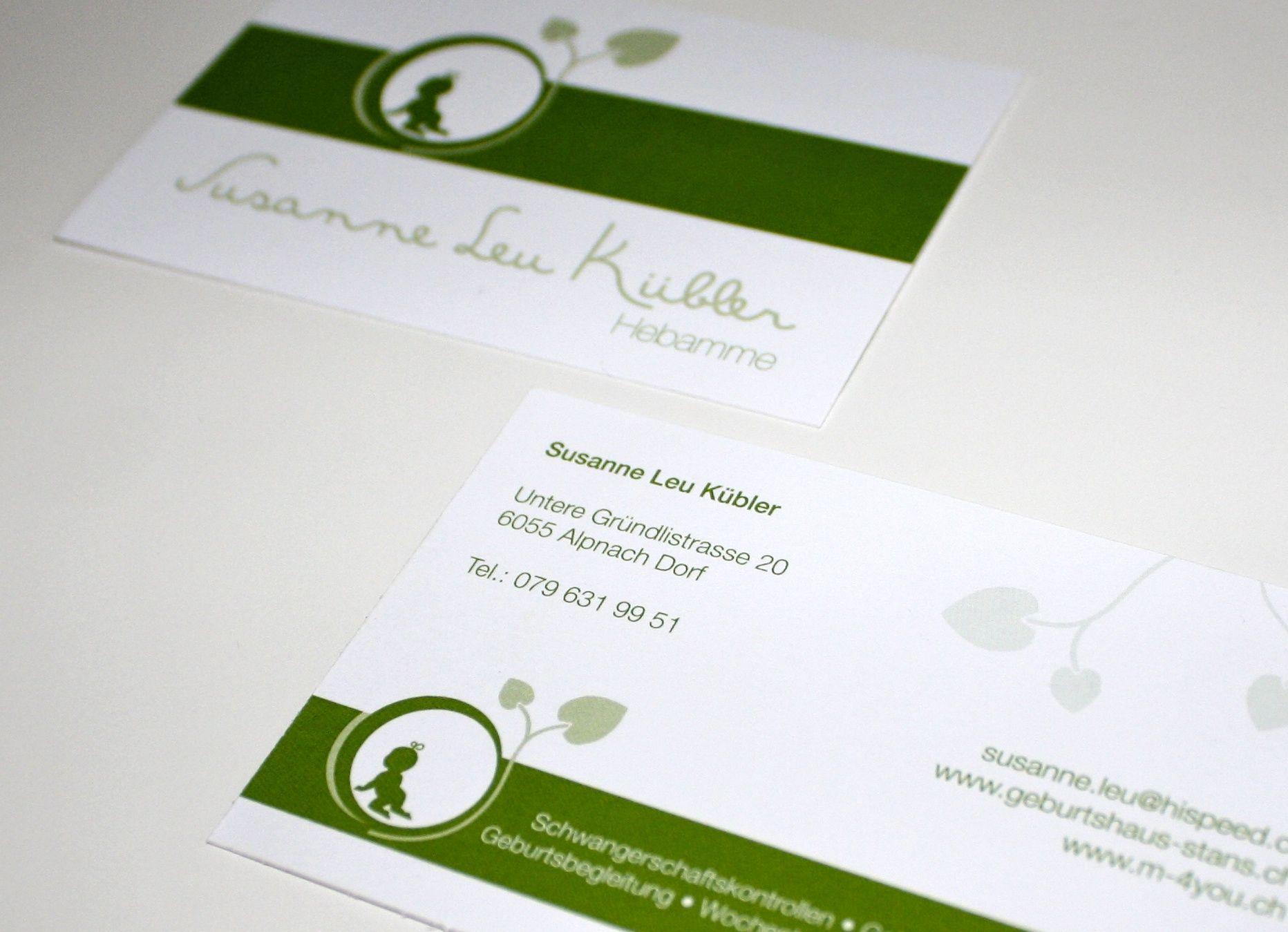 Visitenkarten Und Logodesign Für Eine Hebamme Logo Design