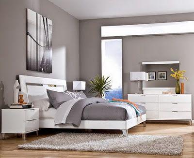 صور طلاء حوائط باللون الرمادي الرصاصي تناسب غرف النوم المودرن White Bedroom Set Bedroom Wall Colors Modern Bedroom Colors