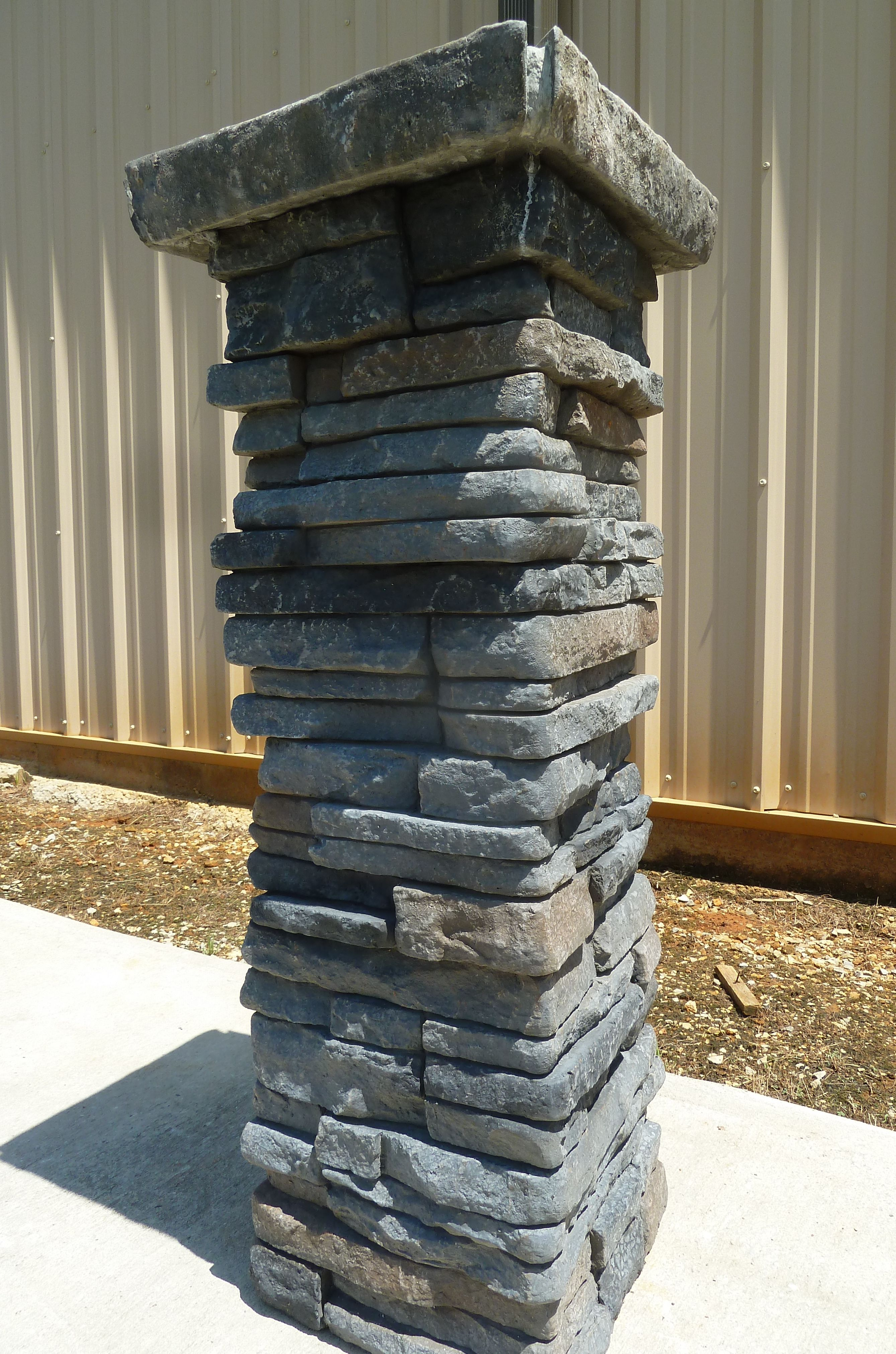 Stacked Stone Columns : Stacked stone column srs products pinterest