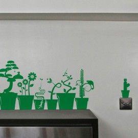 Plants & Pots. Wall paper.
