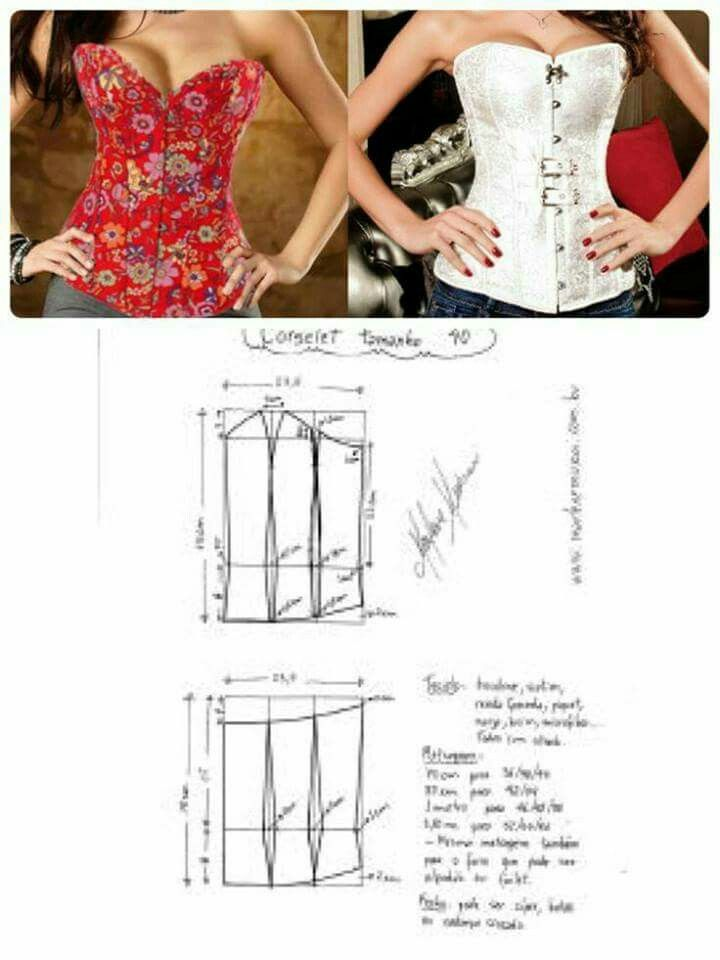 Pin by Strokhexli on Schnittmuster | Pinterest | Corset, Patterns ...