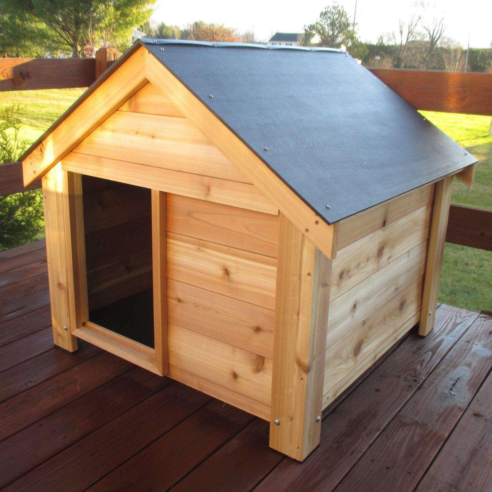 Infinite Cedar Ultimate Cedar Dog House Wood Dog House Dog