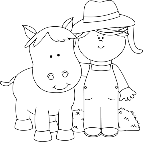 Black And White Farm Girl With A Horse Clip Art Black And White Farm Girl With A Horse Image Horse Clip Art Black And White Clip Art