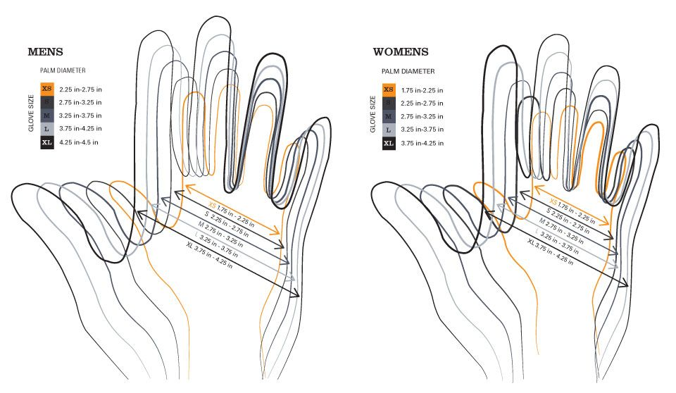 Glove Printable Size Chart pdf Hand Warmers
