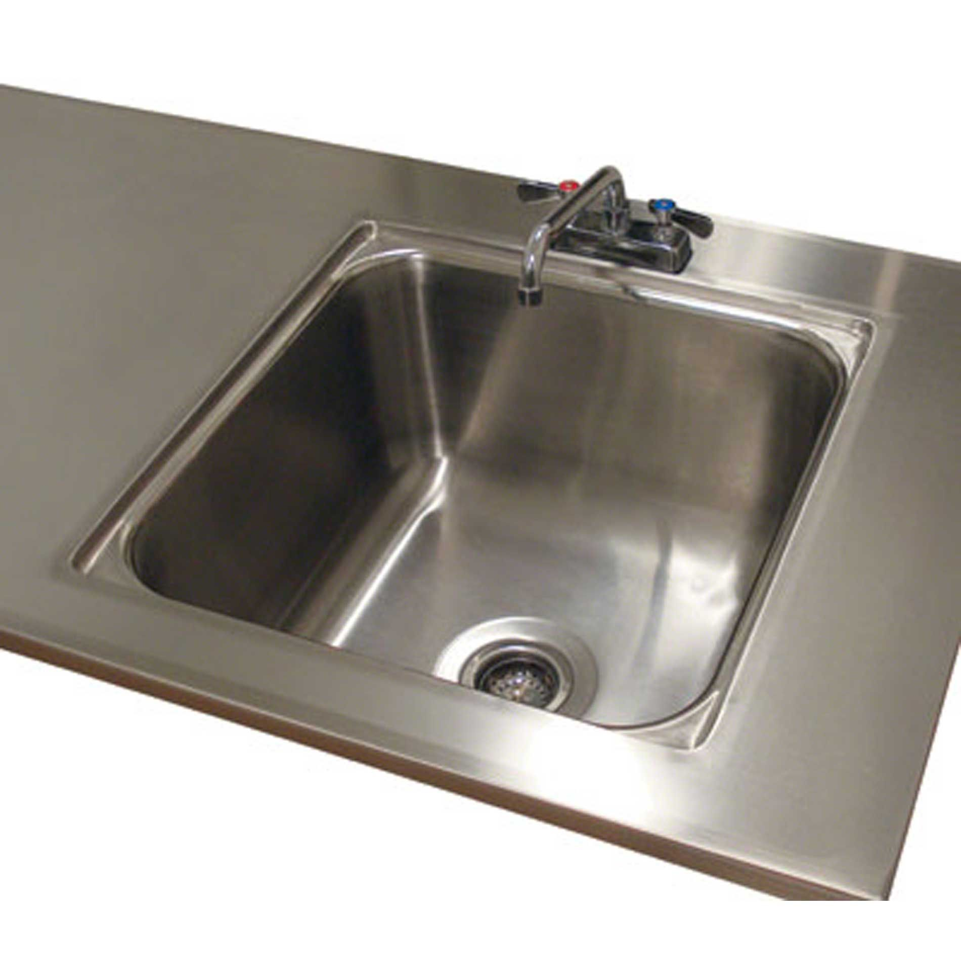 Advance Tabco Ta 11l 24 Sink Welded Into Table Top Advance