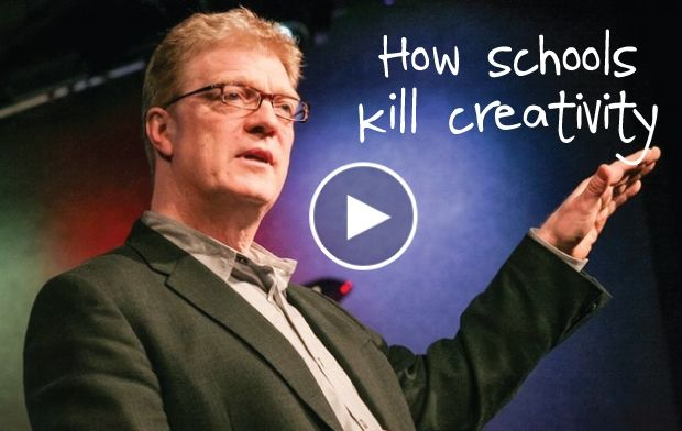 in the number one most viewed ted talk of all time sir ken robinson