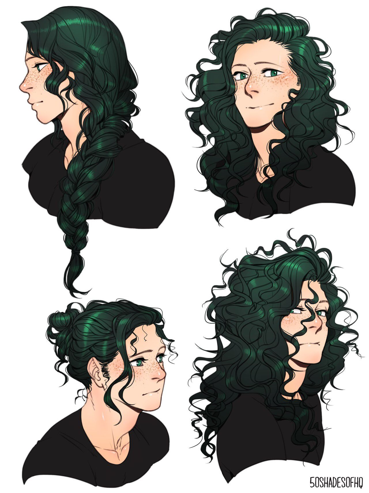 Deku With Long Hair Woah Anime Hairstyles Male Long Hair Drawing How To Draw Hair