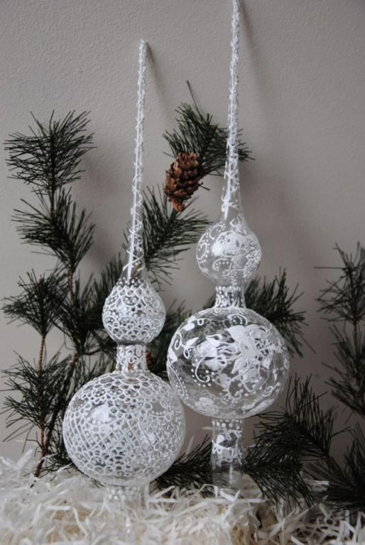 Czub Szpic Szklany Koronka Roza Na Choinke 4793671674 Oficjalne Archiwum Allegro Christmas Bulbs Holiday Decor Christmas Ornaments