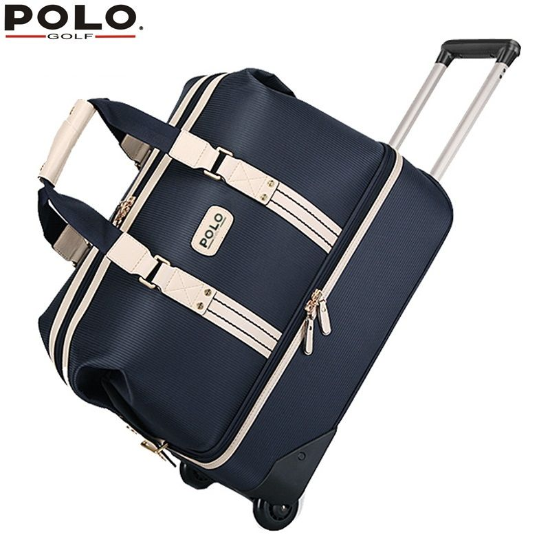 Authentic Polo Golf Double Clothing Shoes Bags High Capacity Trolley Travel Bags With Wheels Golf Apparel Package Bolsas Polo Shoes Clothing Packaging Shoe Bag