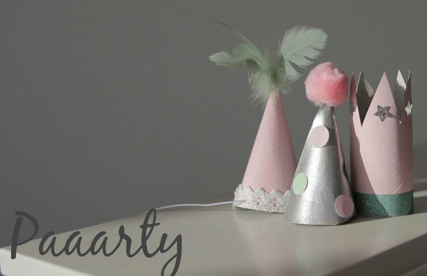 Mini Kronen Und Partyhute Selber Machen Kindergeburtstag Basteln