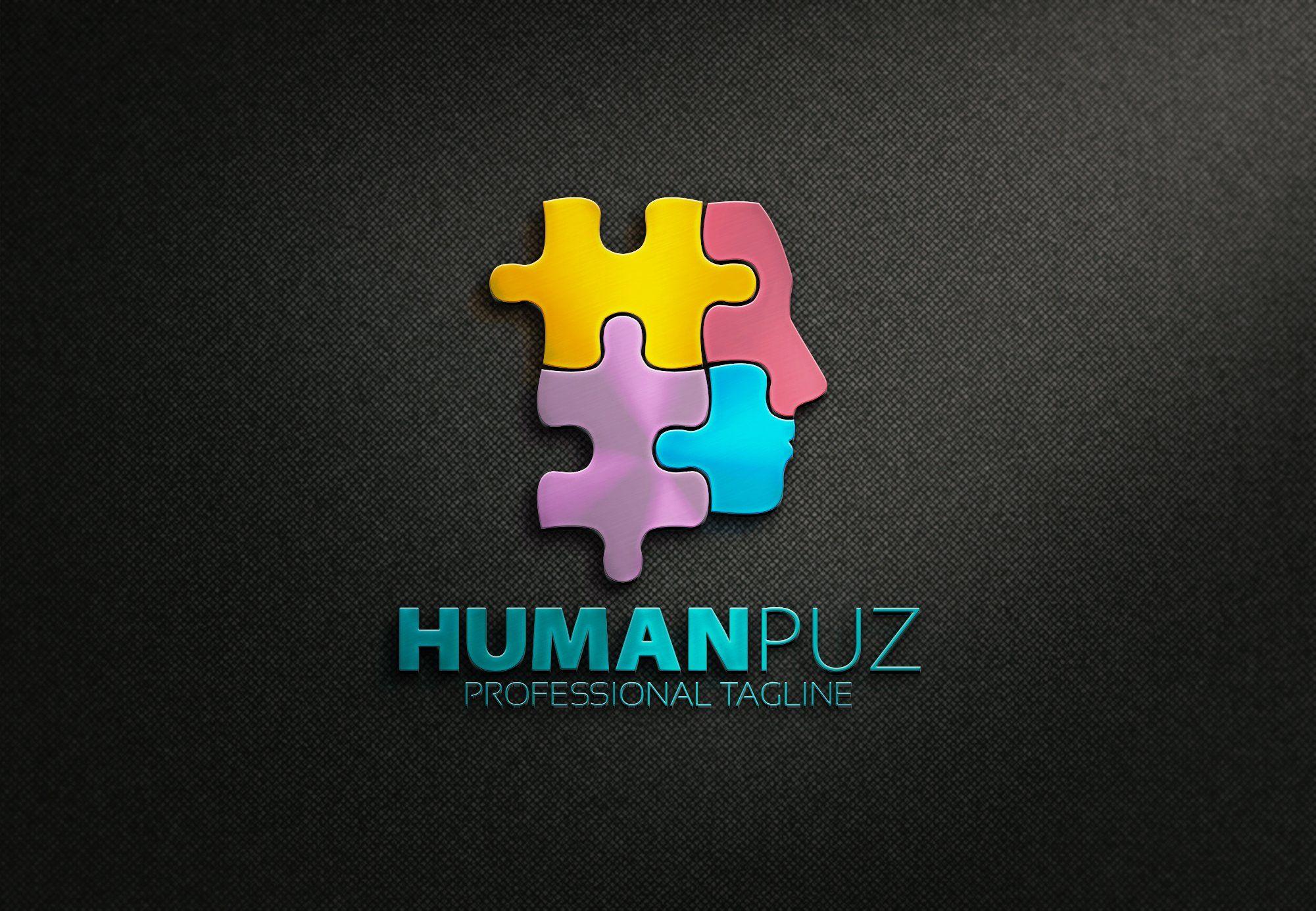 Human Puzzle Logo Puzzel