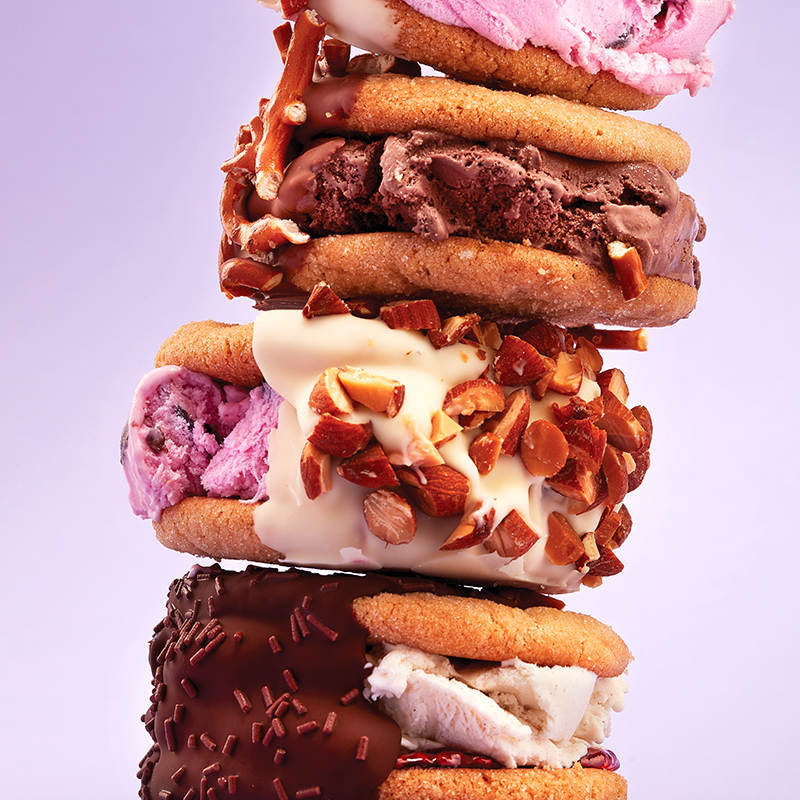 Peanut butter cookie ice cream sandwiches #icecreamsandwich