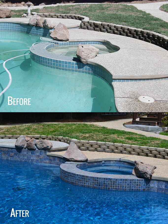 Designed By Geremia Pools Tile Work Replastering And Equipment Done By Geremia Pools As Well Sacramento Pools Remodel Pool Replastering Pool Pool Remodel