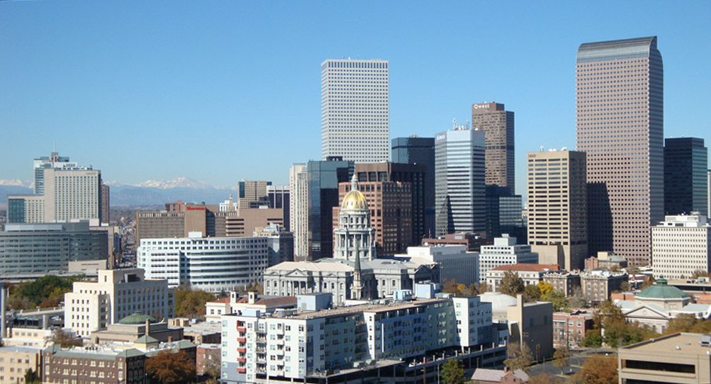 Denver colorado capitol hill and downtown colorado