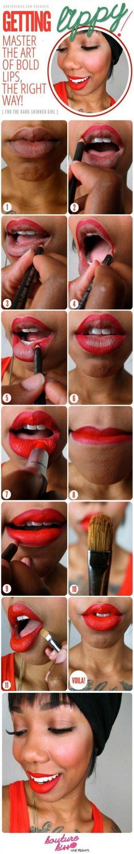 haut Makeup Tutorial Dark Skin Red Lipsticks 22 Ideasschwarze haut Makeup Tutorial Dark Skin Red Li