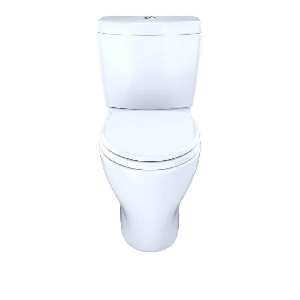 TOTO Aquia 2-Piece 0.9/1.6 GPF Dual Flush Elongated Toilet with 10 ...