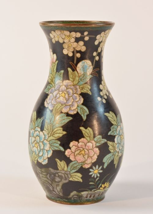 Stallion Hill Gallery Chinese Cloisonn Vase With Ming Mark