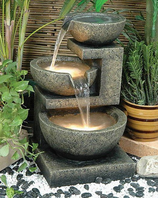 Superieur Alfresco Home Rocca Decorative Outdoor Fountain With Pump And Light  #modernhomeaccent #modernaccentfurniture